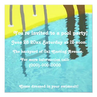 Personnalize your pool party Invitation