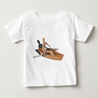 PersonRowingBoat05034.png Baby T-Shirt