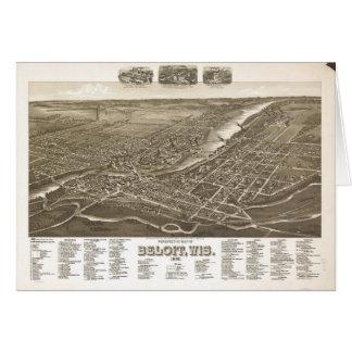 Perspective Map of Beloit, Wisconsin (1890) Card