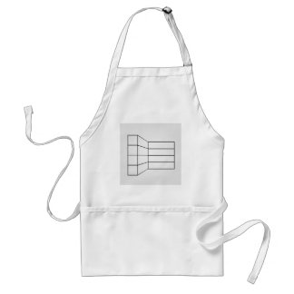 Perspective of a wall- abstract architecture graph standard apron