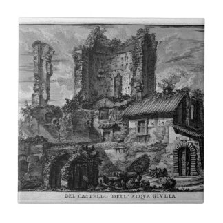 Perspective of the front of the Castle Ruins Tile