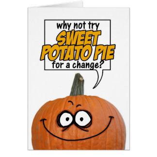 persuasive pumpkin greeting card