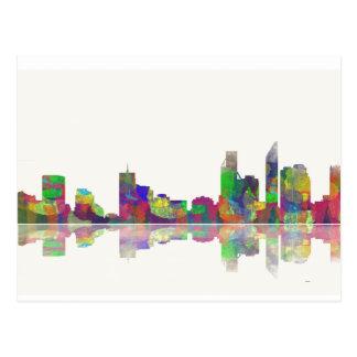 Perth  WA Skyline Postcard