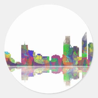 Perth  WA Skyline Round Sticker