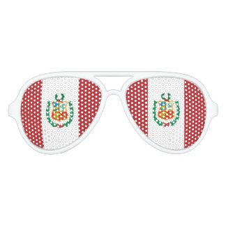 Peru Flag Aviator Sunglasses