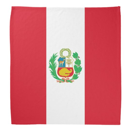 Peru Flag Bandanna