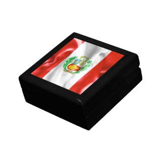 Peru Flag Jewelry Box