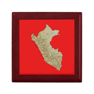 Peru Map Gift Box