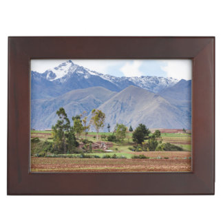 Peru, Maras. Landscape Above The Sacred Valley Keepsake Box