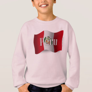 Peru Waving Flag Sweatshirt