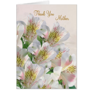 Peruvian Lily.  Wedding. Thank you Mother Card