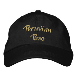 Peruvian Paso Embroidered Hat