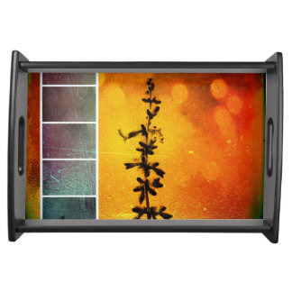 Pervoskia Collage Aflame Serving Tray