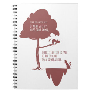 Pessimist's Optimism: Fear of Happiness Cats Notebooks