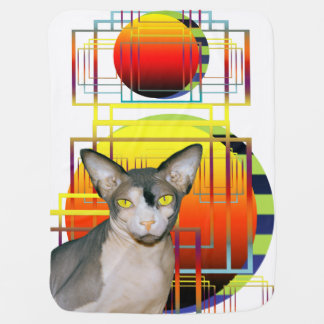 Pet Blanket | Sphynx Cat Geometric