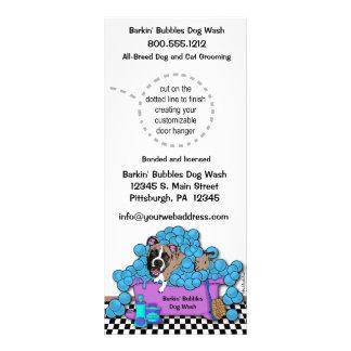 Pet Brindle Boxer Grooming Business Door Hangers Personalized Rack Card