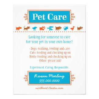 pet sitting flyer templates free
