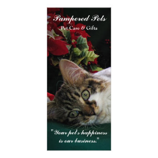 Pet Care, Grooming Daycare, Vet, Animals,Cats,Dogs Custom Rack Cards