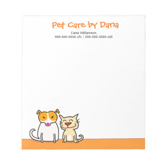 Pet Care Professional Notepad