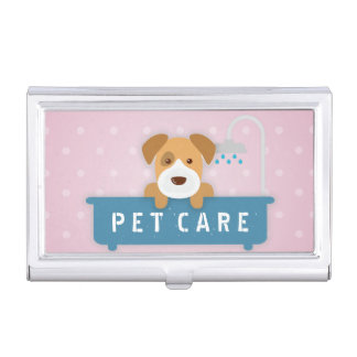 Pet Care Sitting Bathing and Grooming Beauty Salon Business Card Holders