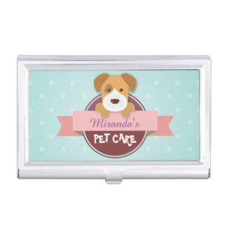 Pet Care Sitting Bathing and Grooming Beauty Salon Case For Business Cards