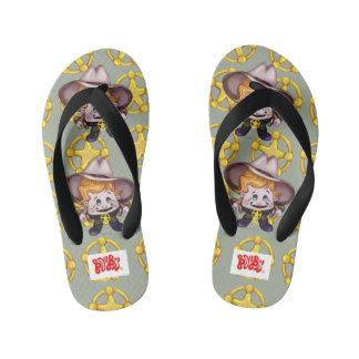 PET COWBOY Flip Flops Kids, Toddler 9/10 Thongs
