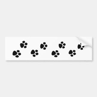 Pet Dog Owner Paw Prints Bumper Sticker