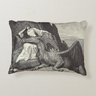 Pet Dragon and Maiden Decorative Cushion