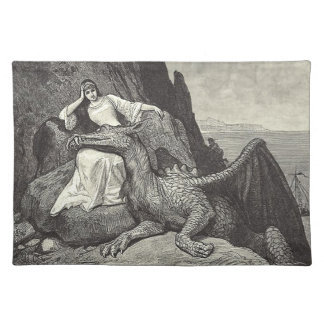 Pet Dragon and Maiden Placemat