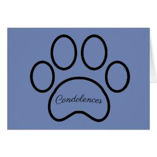 Pet loss, sympathy card, boy pet, cat, dog card