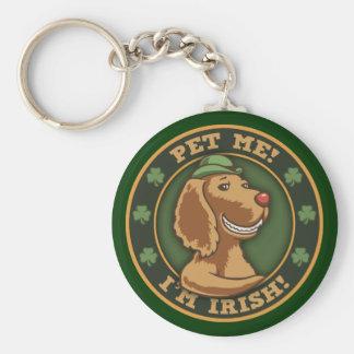 Pet Me! I'm Irish Basic Round Button Key Ring