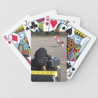 Pet Monkey Crashing Dads RC Airplane. Oops! Bicycle Playing Cards