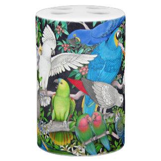Pet Parrots of the World Bathroom Set
