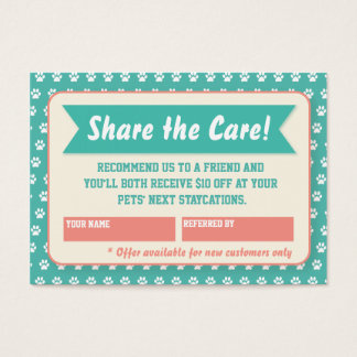 Pet Sitter Referral Card - Personalizable