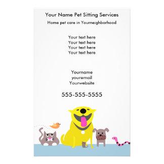 Pet Sitters Flyer-blue 14 Cm X 21.5 Cm Flyer
