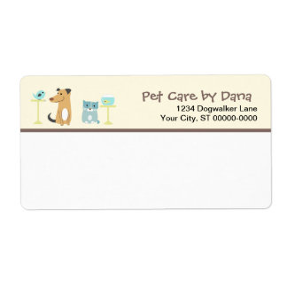 Pet Sitter's Mailing Label Shipping Label