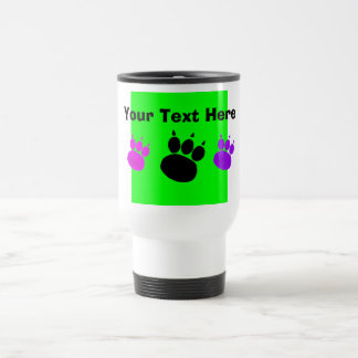 Pet Sitting Services Paw Print Stainless Steel Travel Mug