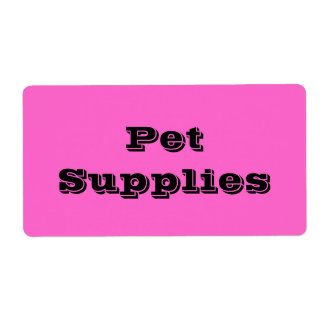 Pet Supplies in Pink Moving Labels