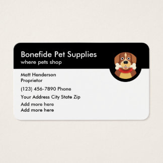Pet Supply Business Card