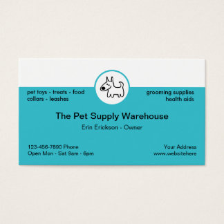Pet Supply Store Business Card