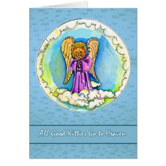 Pet Sympathy, All Good Kitties Go to Heaven, Angel Card