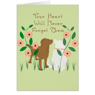 Pet Sympathy Card for the loss of Dog & Cat