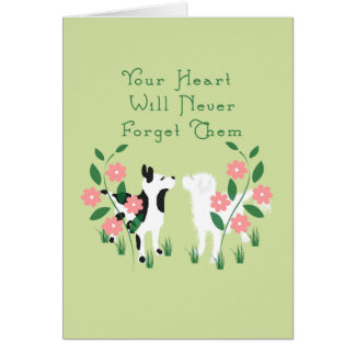Pet Sympathy Card for the Loss of Two Dogs
