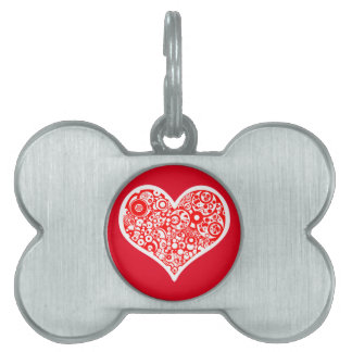 Pet Tag - Bone heart