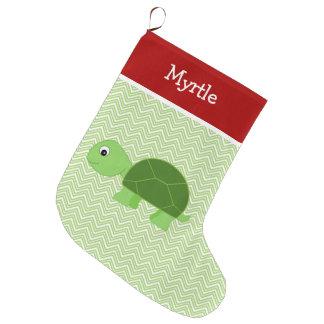 Pet Turtle Personalised Large Christmas Stocking