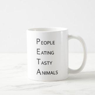 PETA - People Eating Tasty Animals Basic White Mug
