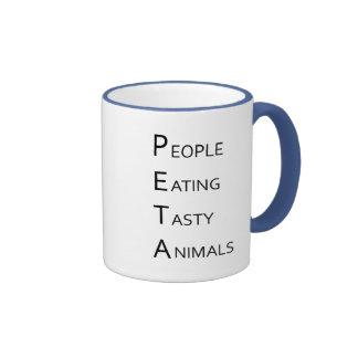PETA - People Eating Tasty Animals Ringer Mug