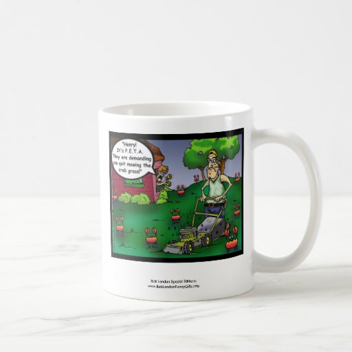 PETA & The Crabgrass Cartoon Funny Mug Mugs