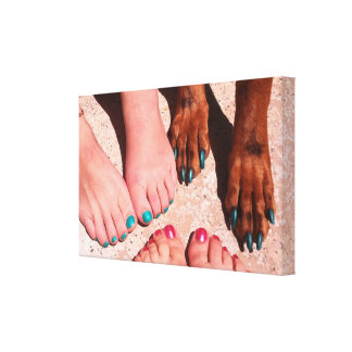 Peticure - Pedicure Spa Day Gallery Wrapped Canvas