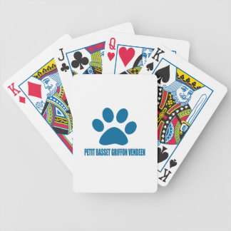 PETIT BASSET GRIFFON VENDEEN DOG DESIGNS BICYCLE PLAYING CARDS